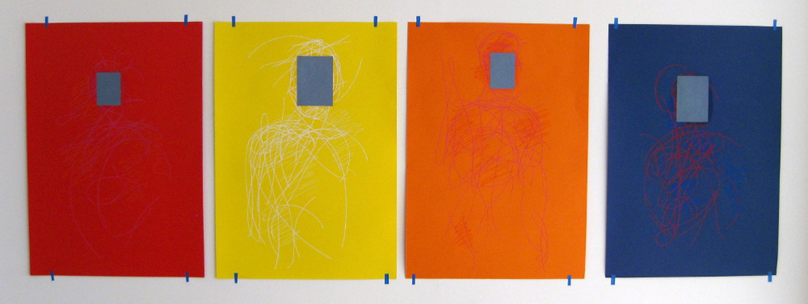 Portrait of the viewer, colours x4 (2014)